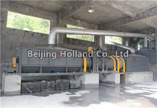 Aluminum dross cooler, preliminary screening machine, ball mill, and final screening machine