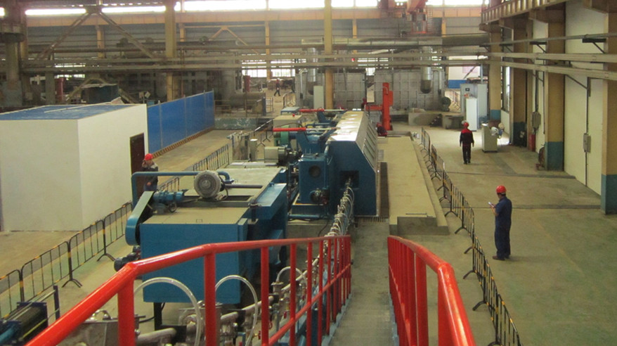 Aluminum CCR Continuous Casting Rolling line